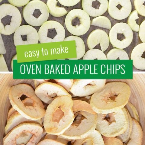 Easy to make, oven baked, apple chips.