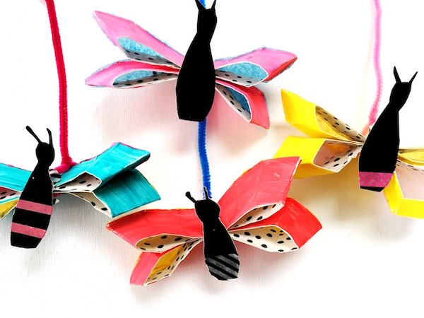 Eric Carl inspired paper plate butterfly