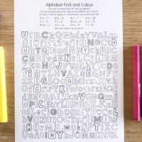 Alphabet Find and Colour Activity – Free Printable