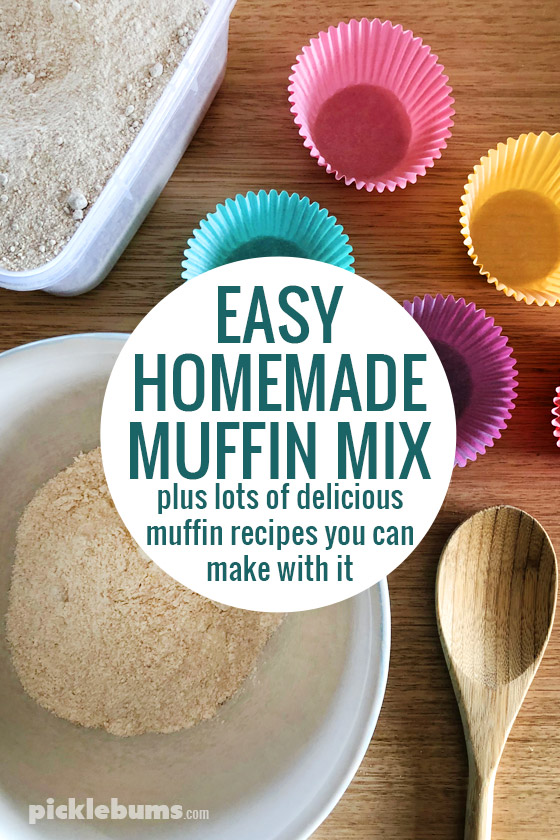 Easy homemade muffin mix, plus lots of fmuffin recipes you can make with it