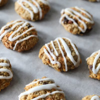 Carrot and oat cookies - not very healthy, but definitely delicious!