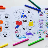 Halloween design and colour free printable
