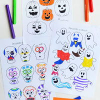 Halloween design and colour pages - free printable