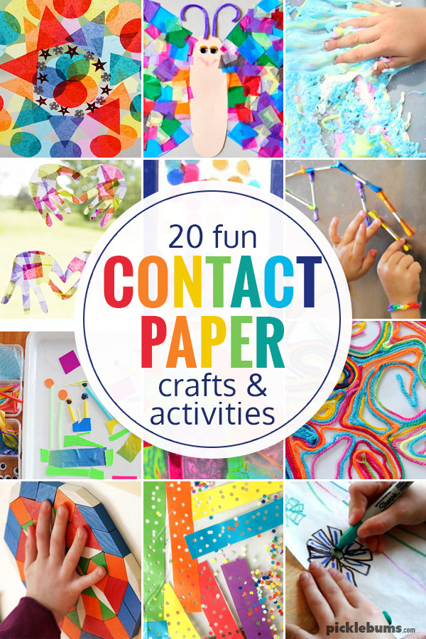 Try one of these contact paper crafts and activities