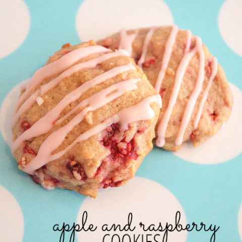 Apple and Raspberry Cookies