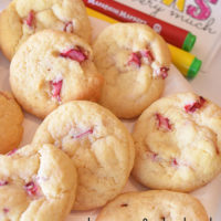 Lemon and Rhubarb Cookies