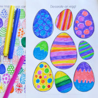 Easter colouring pages free printable for kids