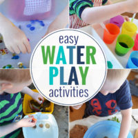 12 Easy Water Play idas for kids