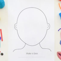 Free printable make a face template