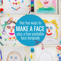 Make a face five ways, plus a free printable face template