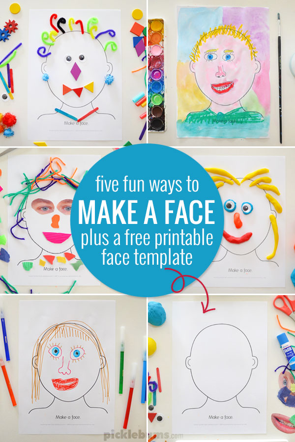 Make a Face Activity - Five Ideas and a Free Printable - Picklebums