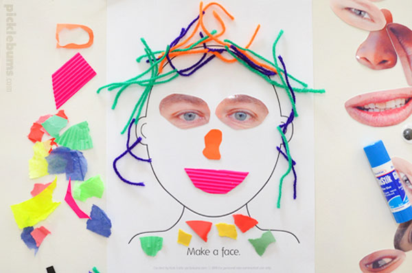 picture regarding Printable Face identify Crank out a Facial area Game - 5 Recommendations and a No cost Printable