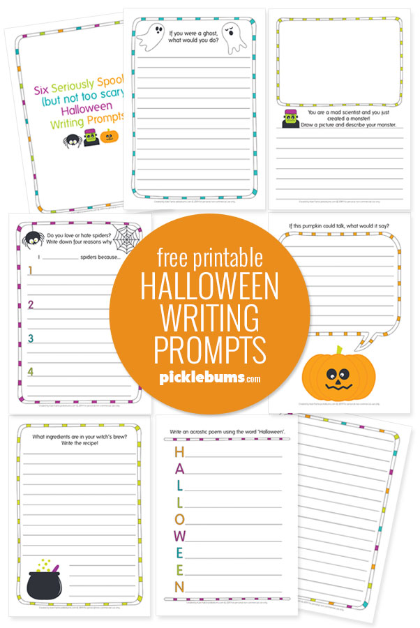 Free printable halloween writing prompts for kids
