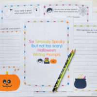 Free Printable Halloween writing prompts