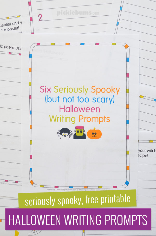 Six seriously spooky 9but not too scary) Halloween Writing Prompts for Kids