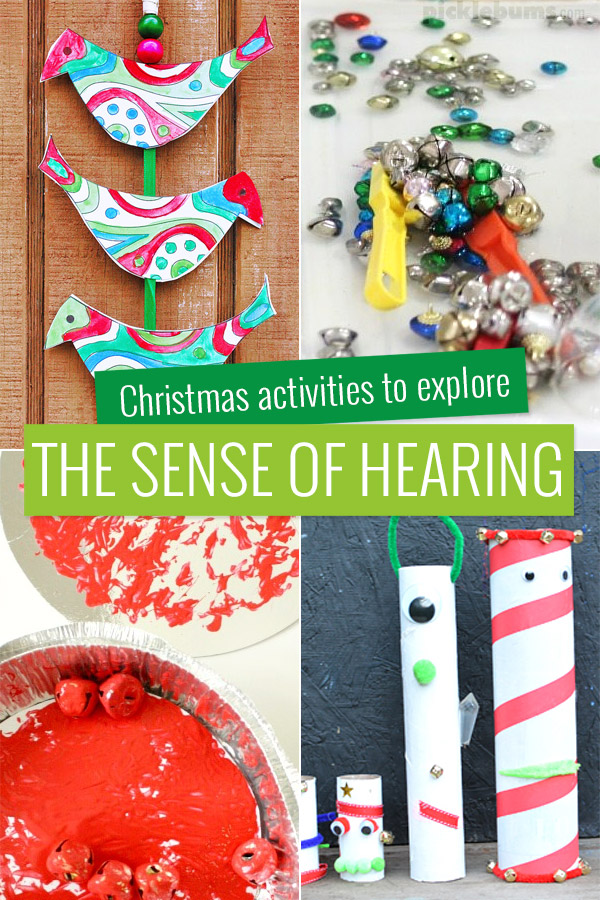 Christmas activities to explore the sense of hearing.