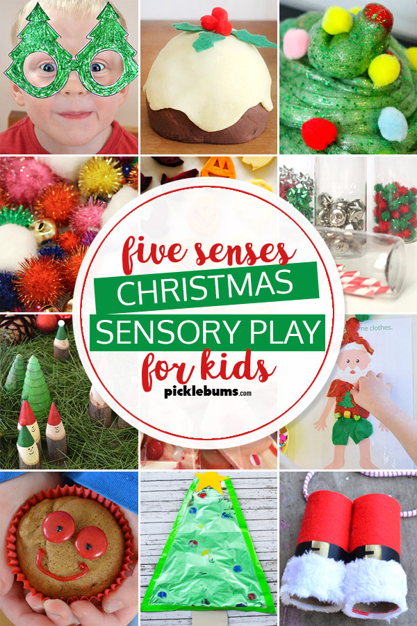Five Senses Christmas Sensory Play for kids