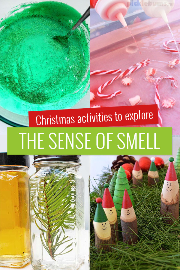 Christmas activities to explore the sense of smell with kids