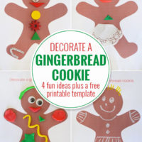 Decorate a gingerbread man craft ideas and template