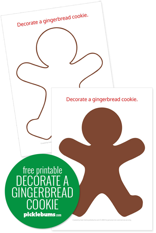 Free printable gingerbread man template
