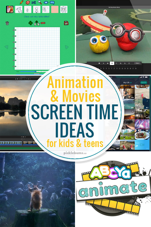 Animation and move screen time ideas for kids