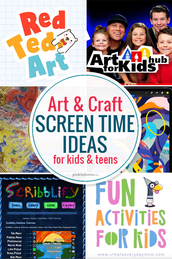 art and craft screen time ideas for kids