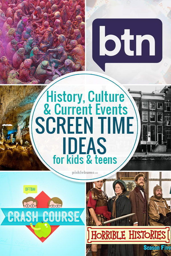 History culture and current events screen time ideas for kids
