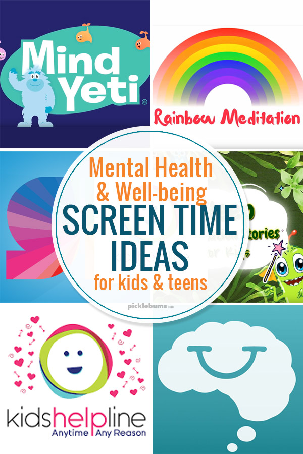 Mental health and weel-being screen time ideas for kids