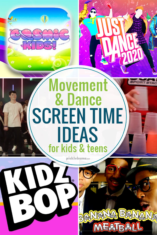 Movement and dance screen time ideas for kids