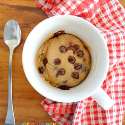 Microwave Chocolate Chip Mug Cookies