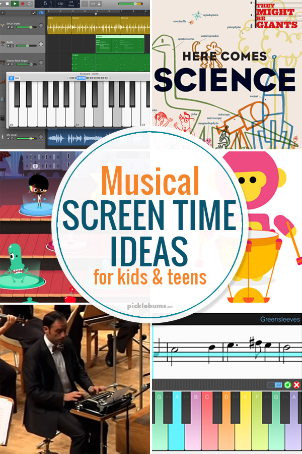 Musical screen time ideas for kids