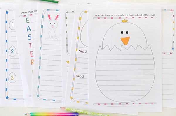 Printed Easter writing prompts