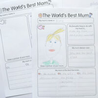 world's best Mum writing activity