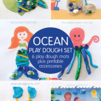 ocean play dough mats