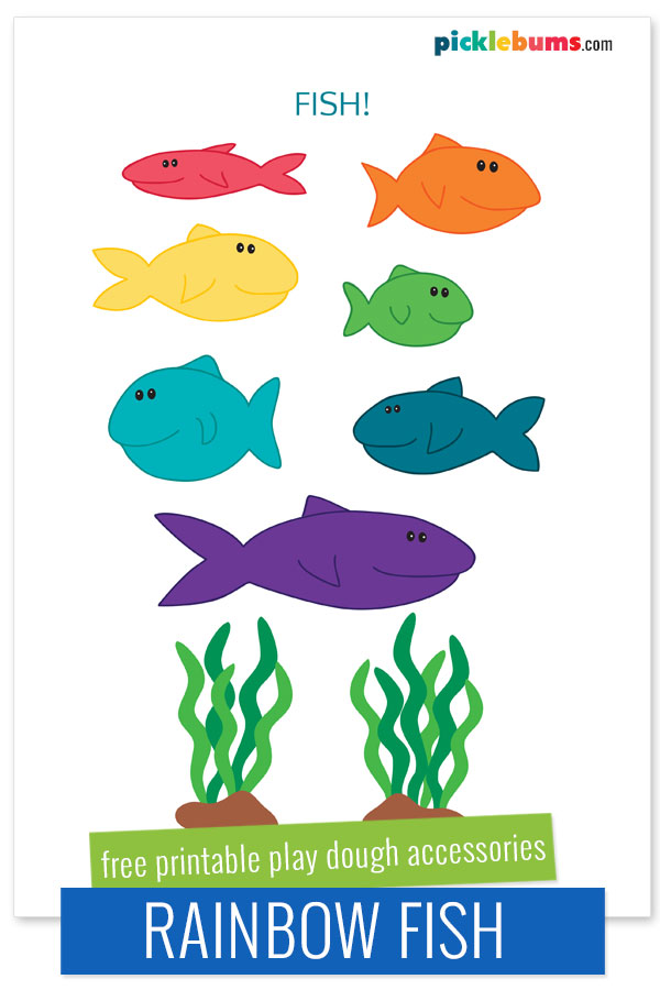 free printable fish accessories for playdough