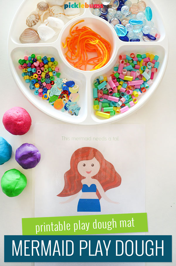mermaid play dough mat and accessories