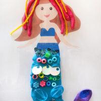mermaid play dough mat