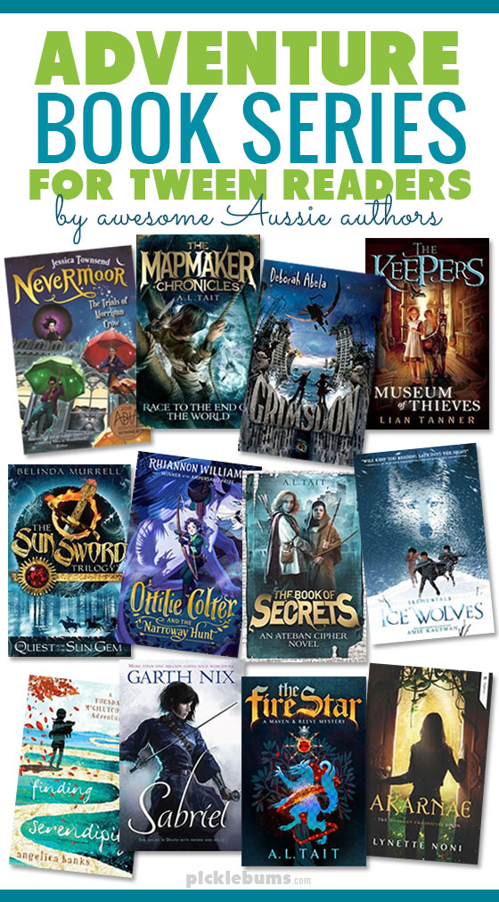 Text Adventure book series for tween readers b awesome Aussie authors, and multiple book covers