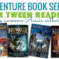 text - adventure book series for tween readers and book covers