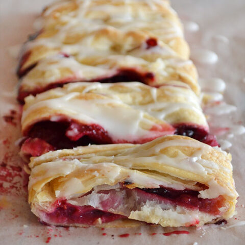 Cheaters Lemon Berry Strudel