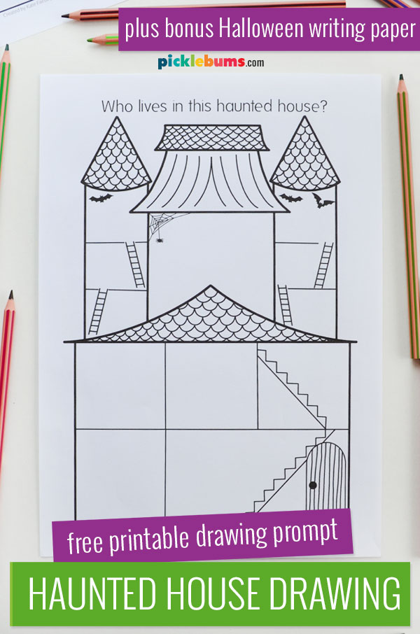 haunted house printable drawing activity