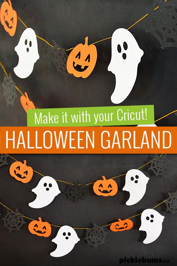 paper halloween garland hanging