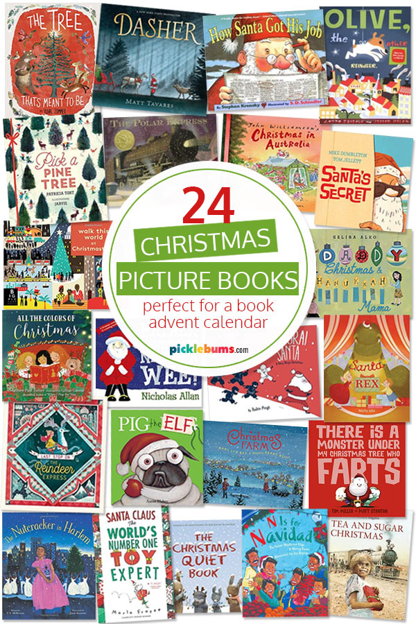 24 Christmas picture book covers