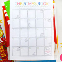 Christmas boo advent calendar printable