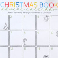 printable Christmas book advent calendar