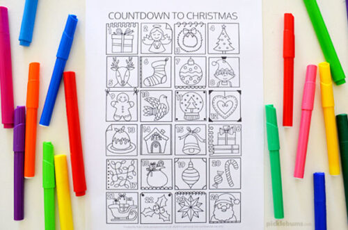 Advent Calendar Colouring Page - Free Printable - Picklebums