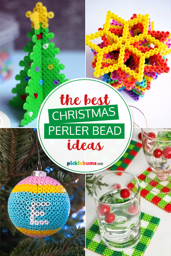 christmas perler bead ideas collage