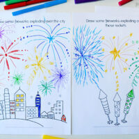 fireworks drawing