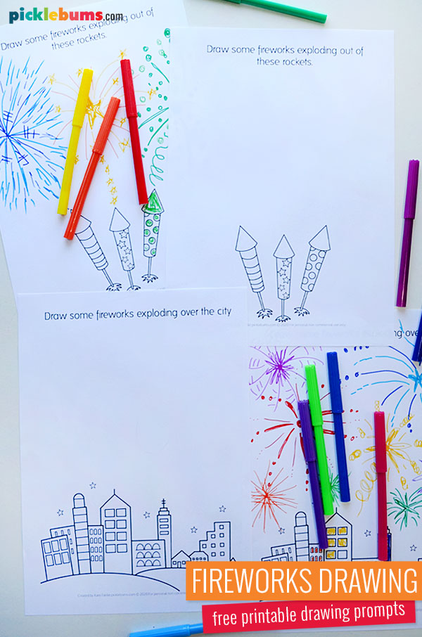 fireworks drawing pages