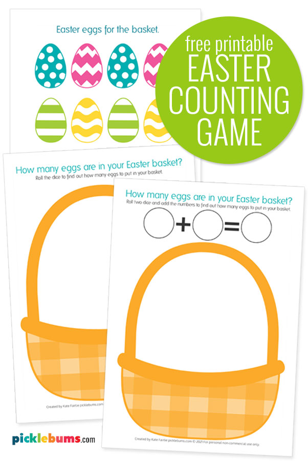 Easter counting game free printable